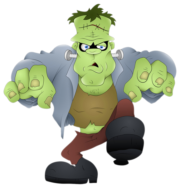 png freeuse library Frankenstein clipart. Cute happy halloween free.