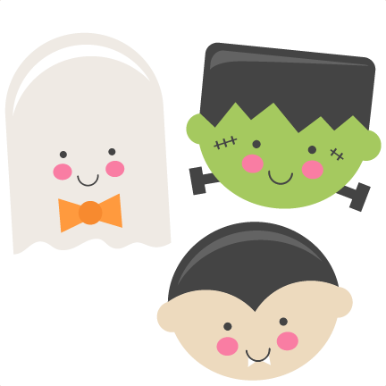image freeuse Coffin clipart clip art. Cute halloween monsters ghost