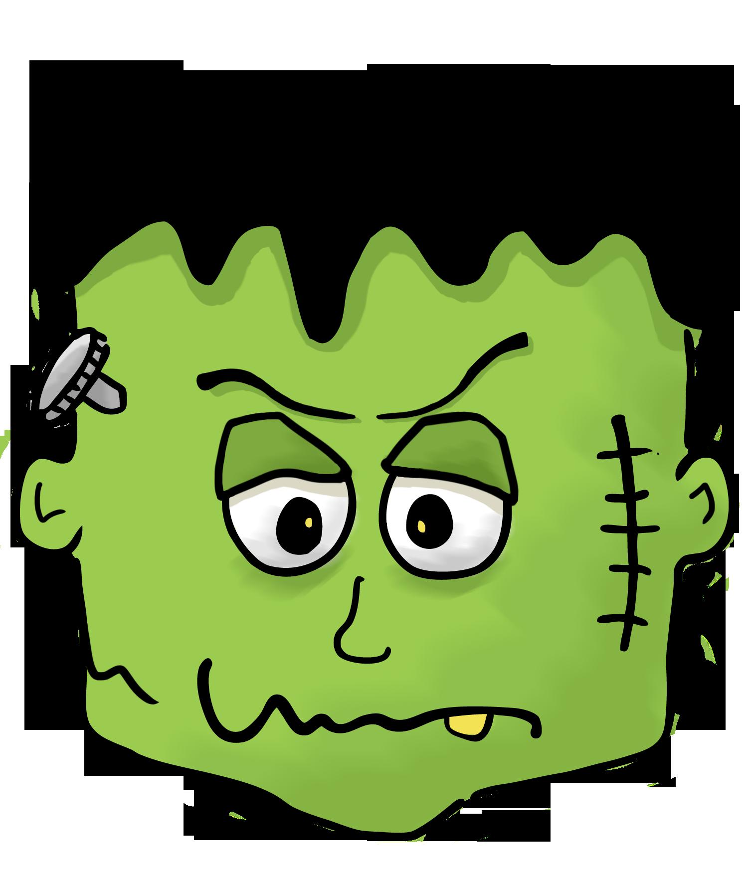 jpg library library Halloween Frankenstein Clipart Kid