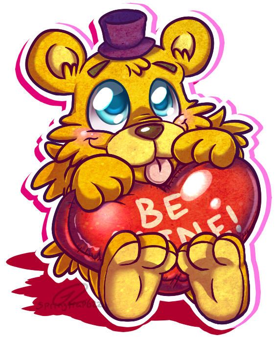 png black and white More early valentine s. Fredbear drawing
