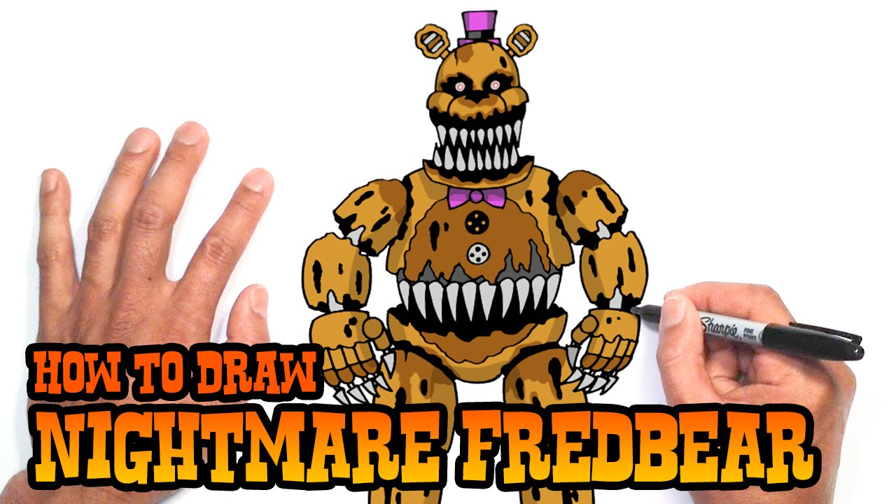 picture free download Fredbear drawing. How to draw nightmare
