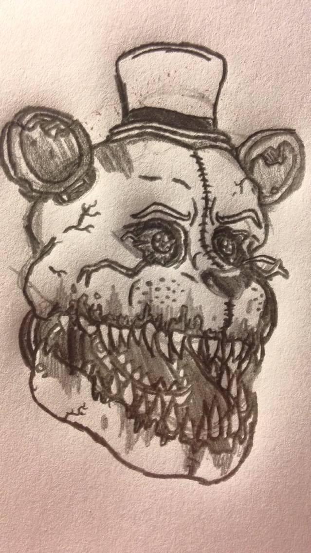 free stock Fredbear drawing. Stylized nightmare by cynfulentity