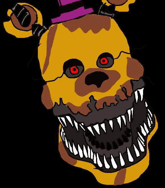 vector library download Nightmare by jackjackcooper on. Fredbear drawing