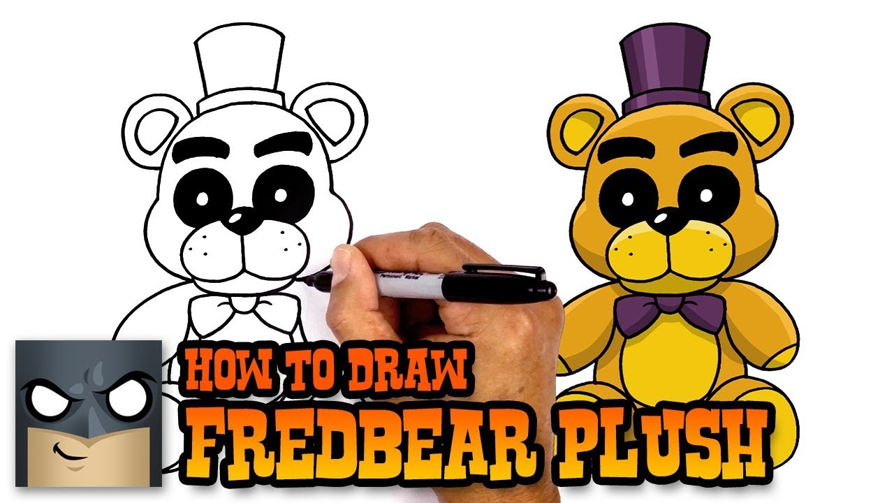 clip library download Fredbear drawing. How to draw plush