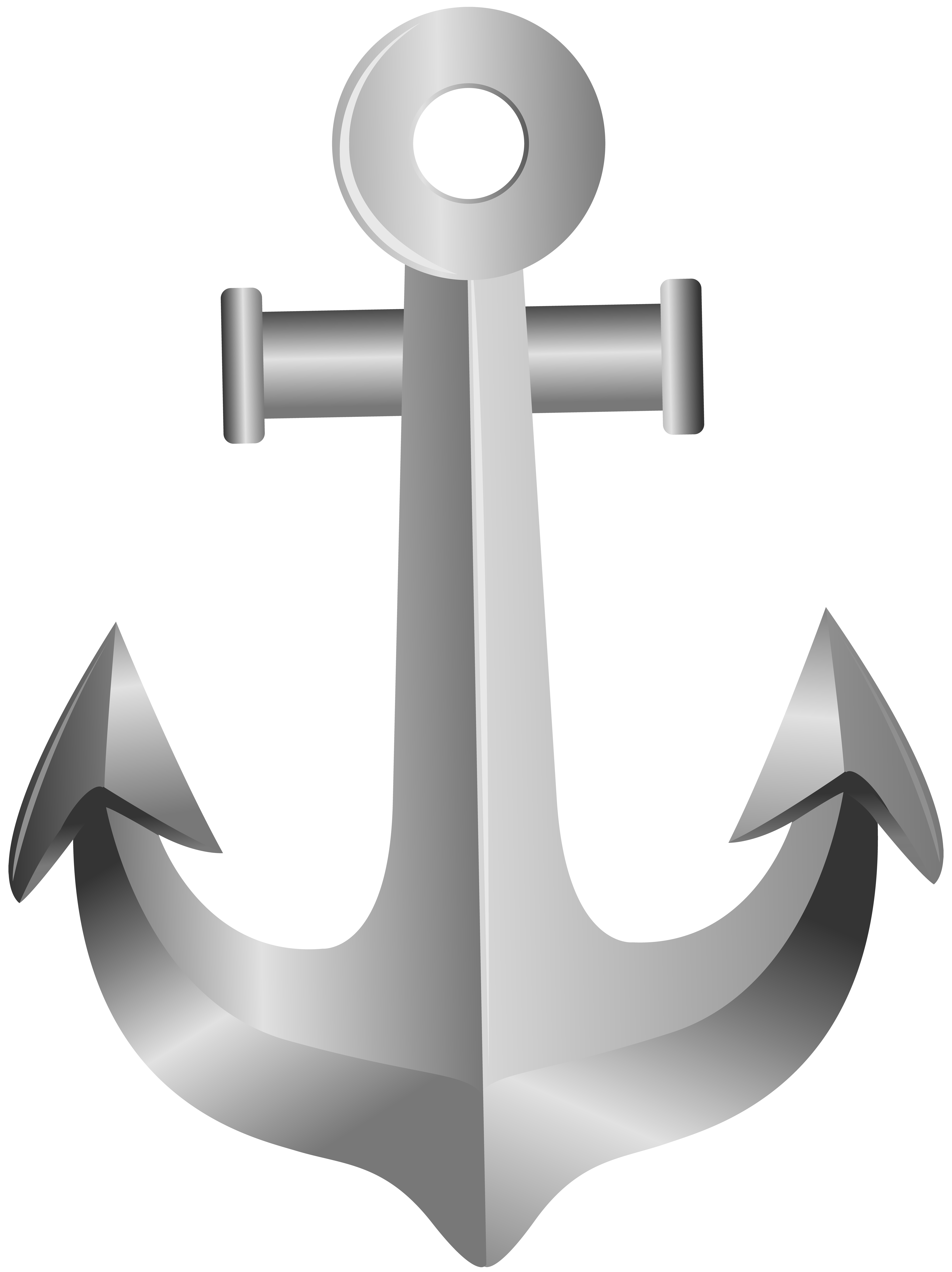 clip art black and white download Silver Anchor PNG Clip Art