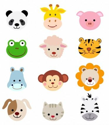 clip art stock Free animal clipart. Faces set clothing ideas