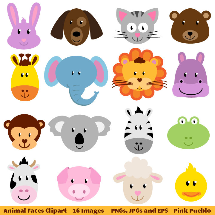 clip royalty free Free animal clipart. Faces cliparts download clip
