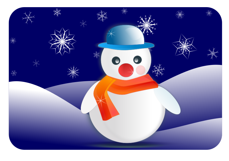 svg library Snowman Clipart