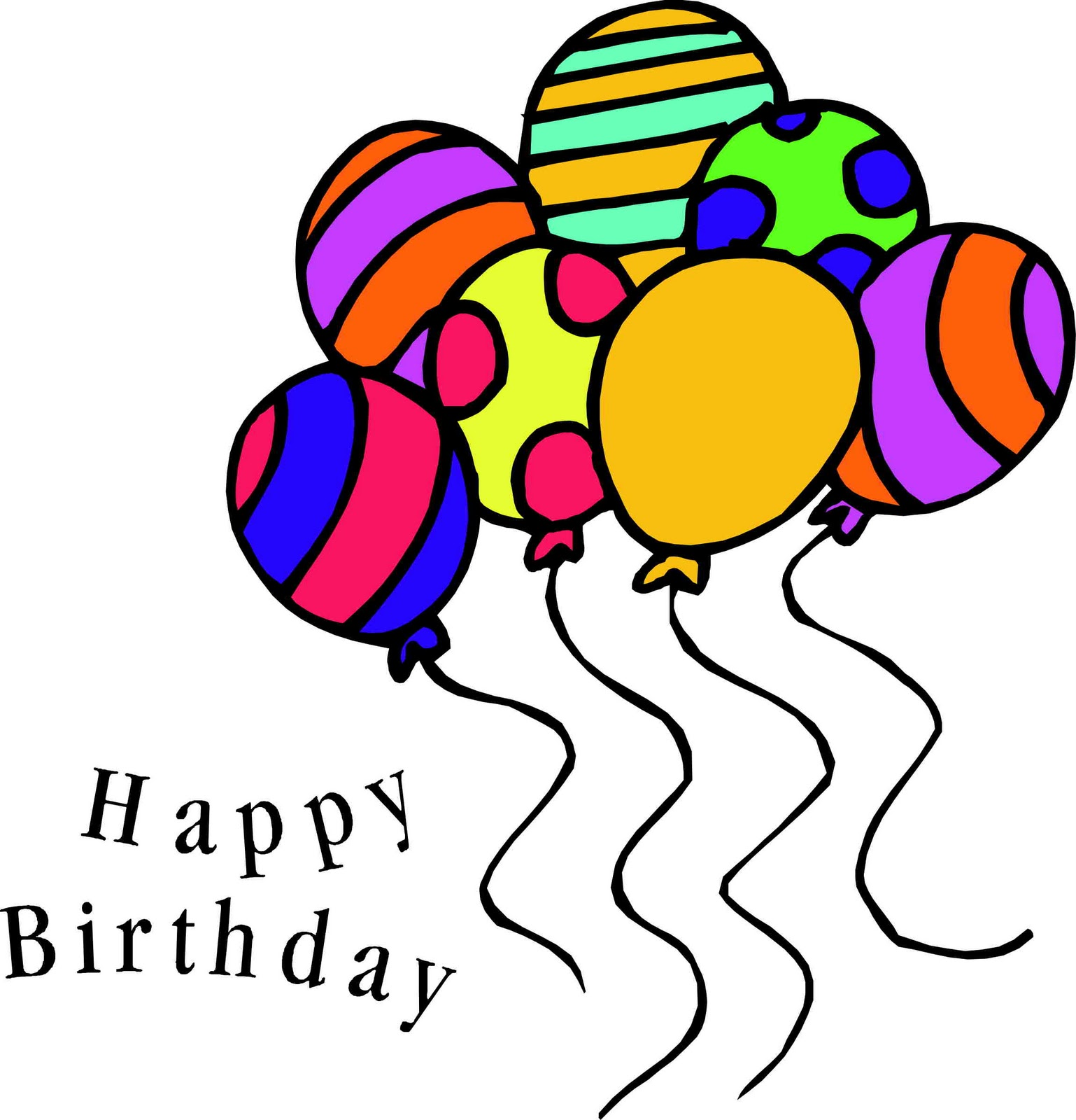 jpg black and white library Animated clip art pin. Free clipart happy birthday