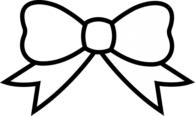 png black and white Image of hair bow. Free archery clipart