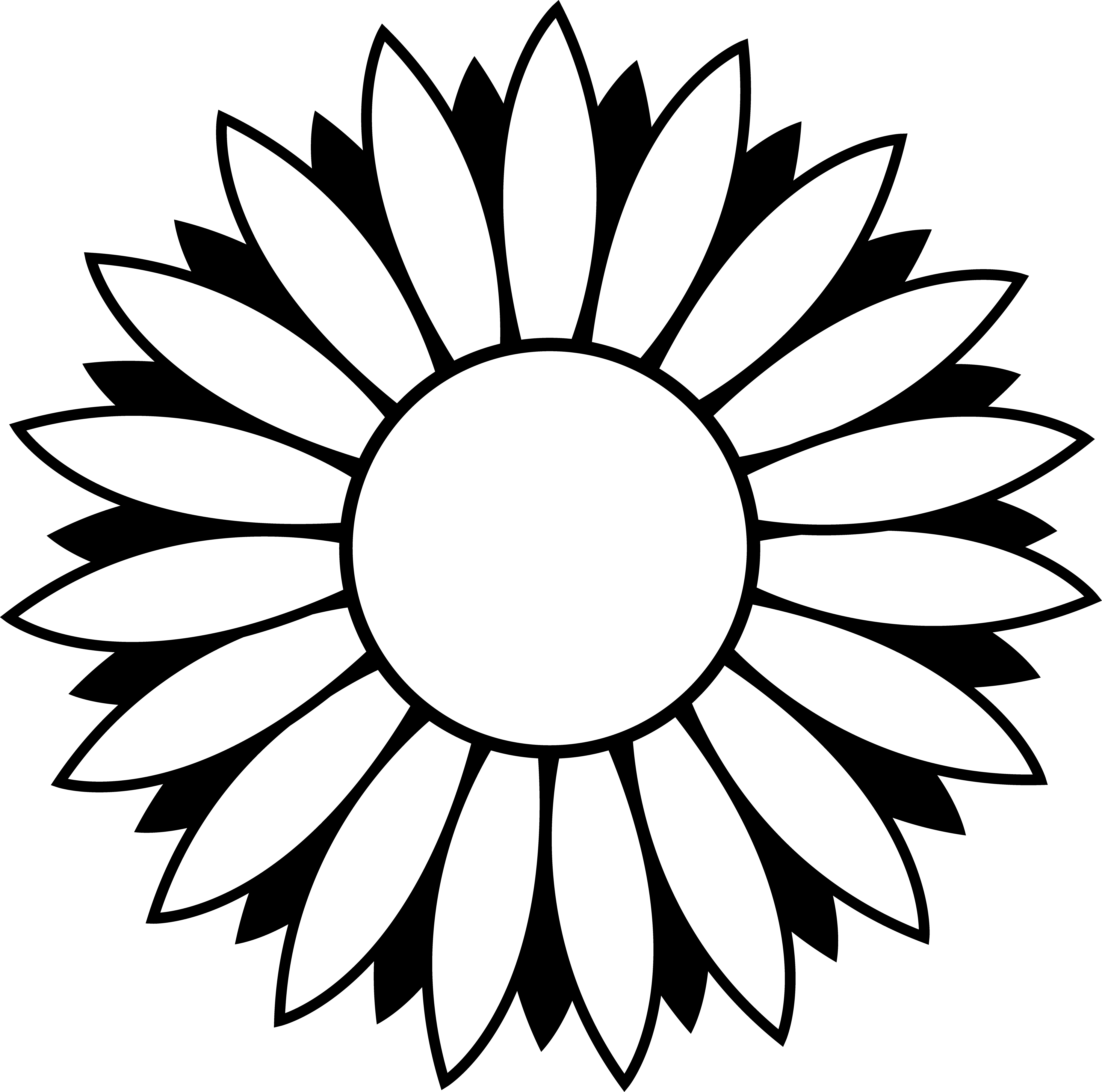 vector free stock Sunflower drawing at getdrawings. Lotus clipart black and white