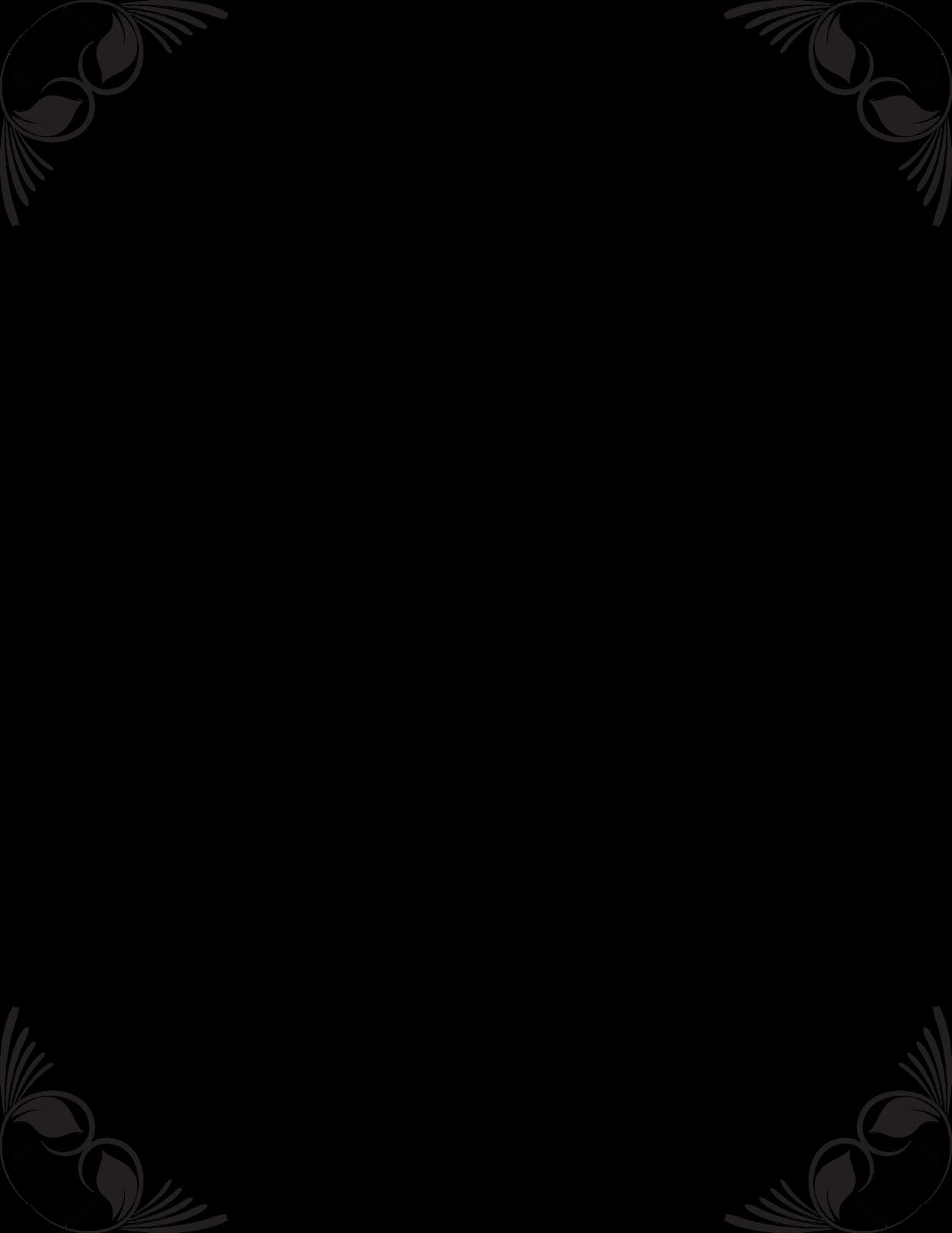 vector transparent Coreldraw border . Free borders clipart