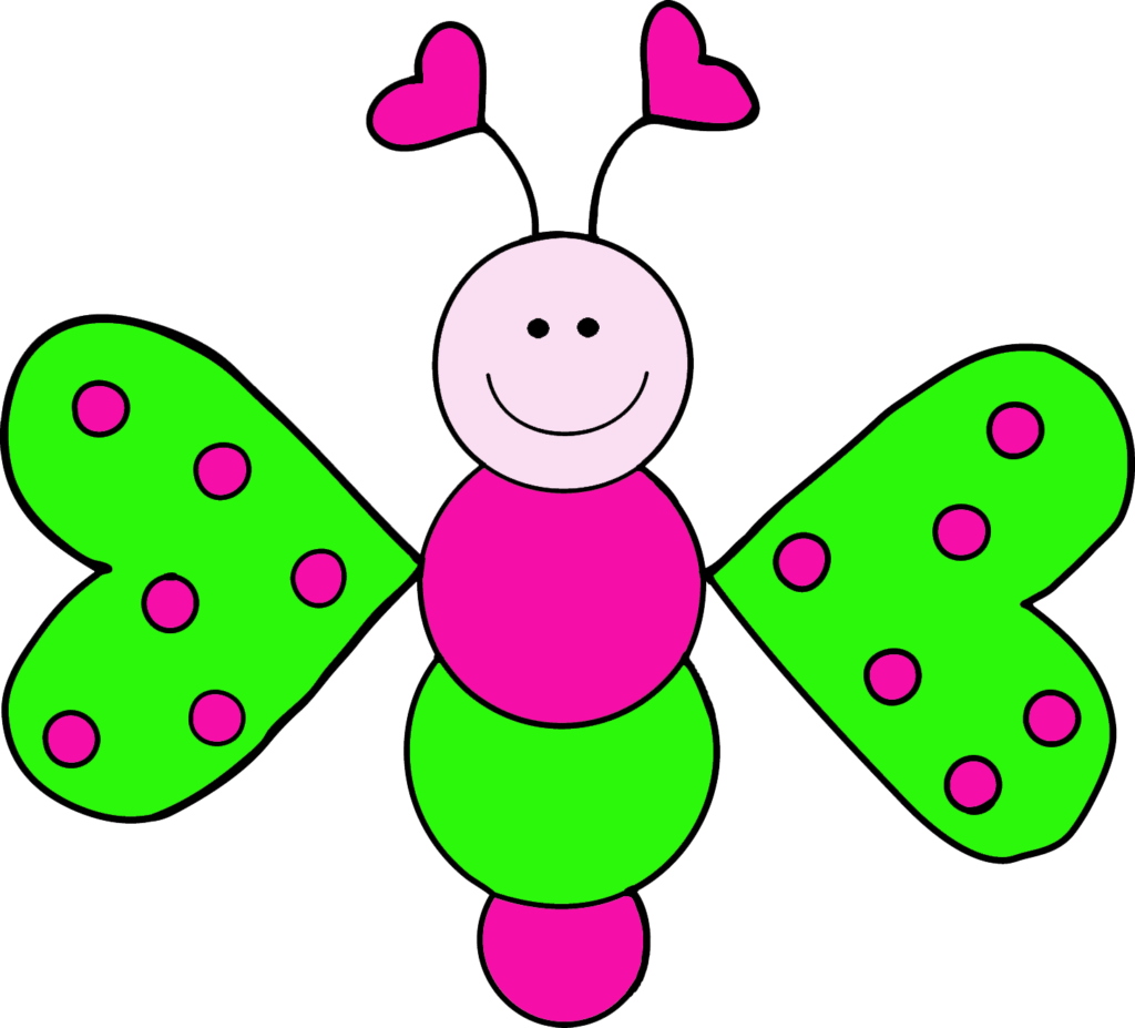 graphic library library Bug lb pink errortape. Free butterfly clipart images.