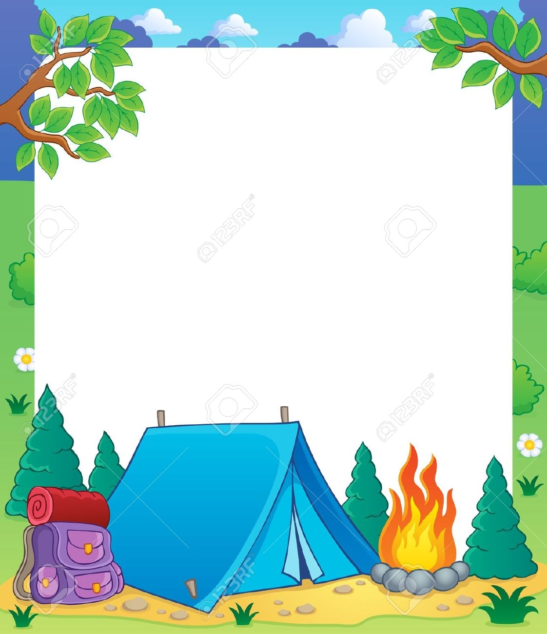 clip art download Free camping clipart borders.  clip art clipartlook.
