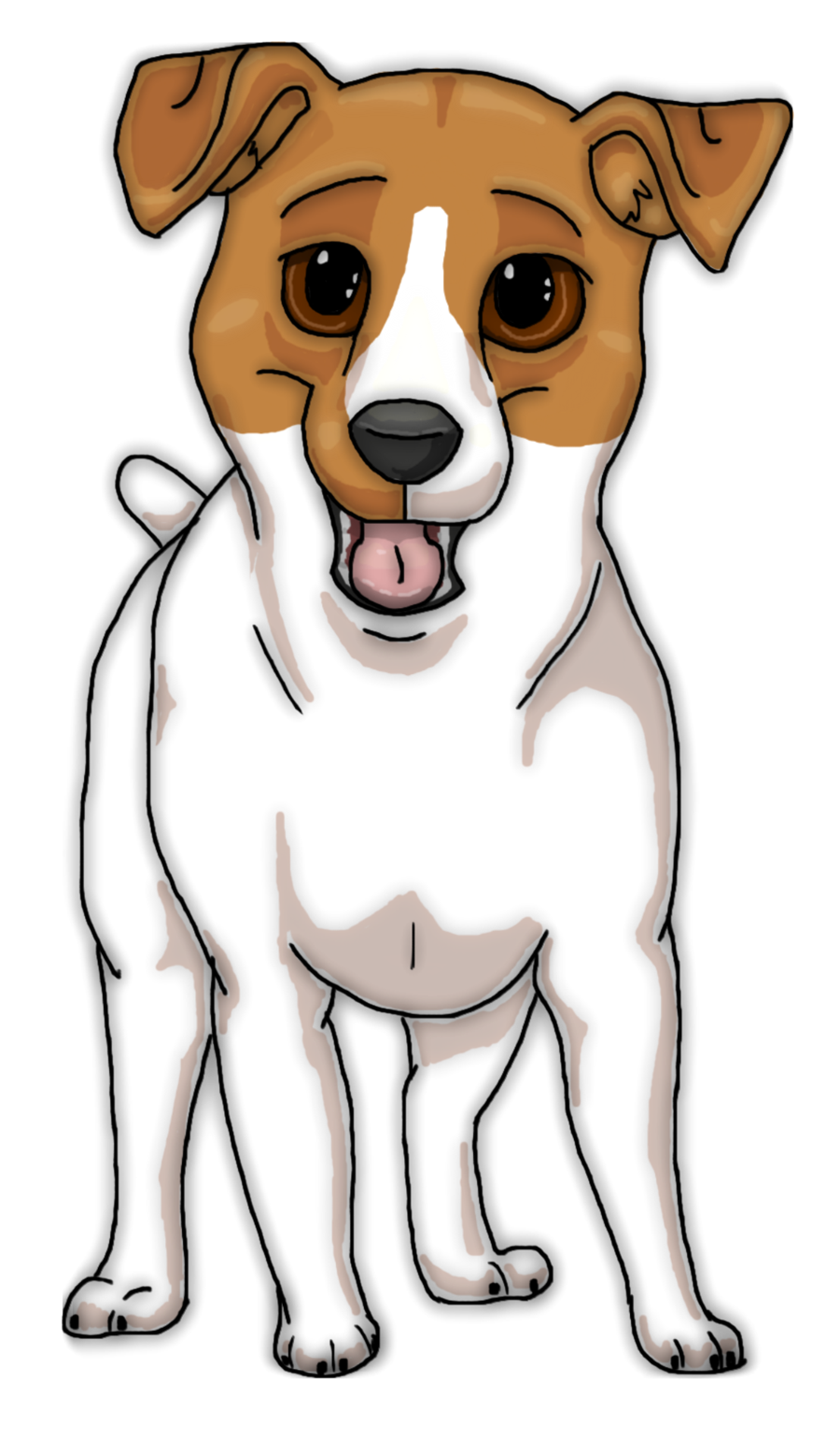 svg black and white free dog clipart