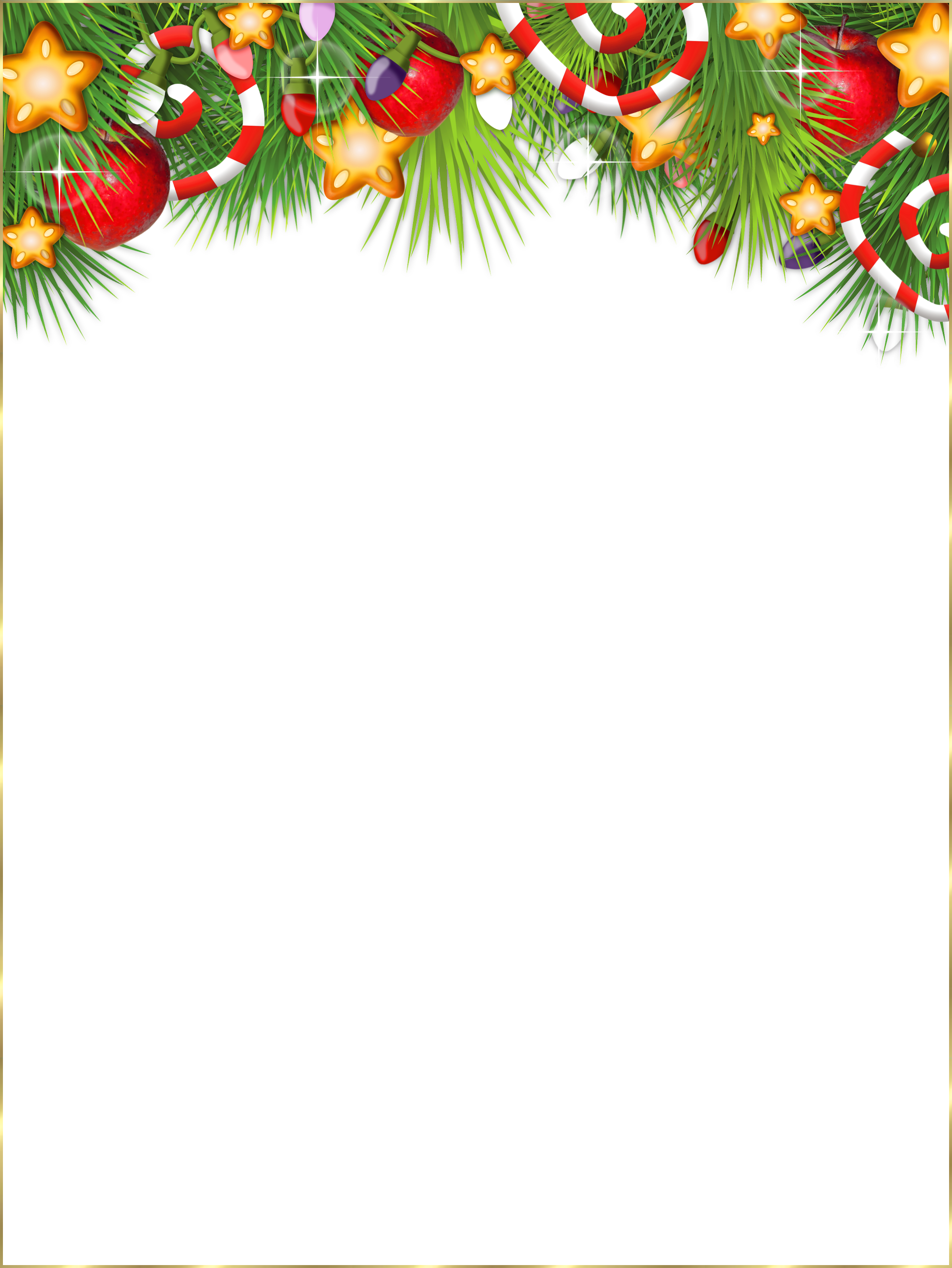 jpg black and white library Cute transparent photo frame. Free christmas clipart borders and frames