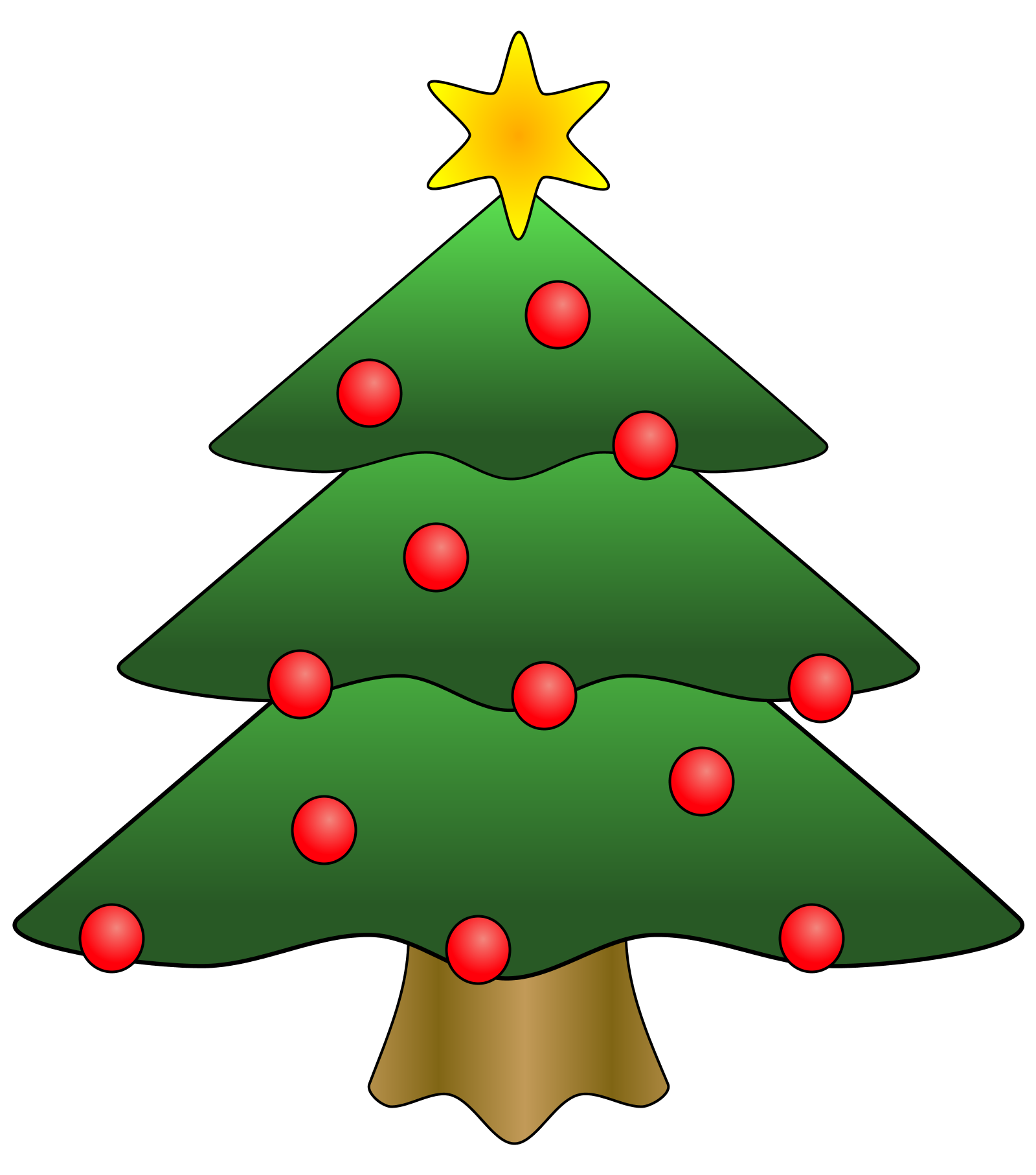 picture freeuse library Tree download clip art. Free christmas clipart borders for word