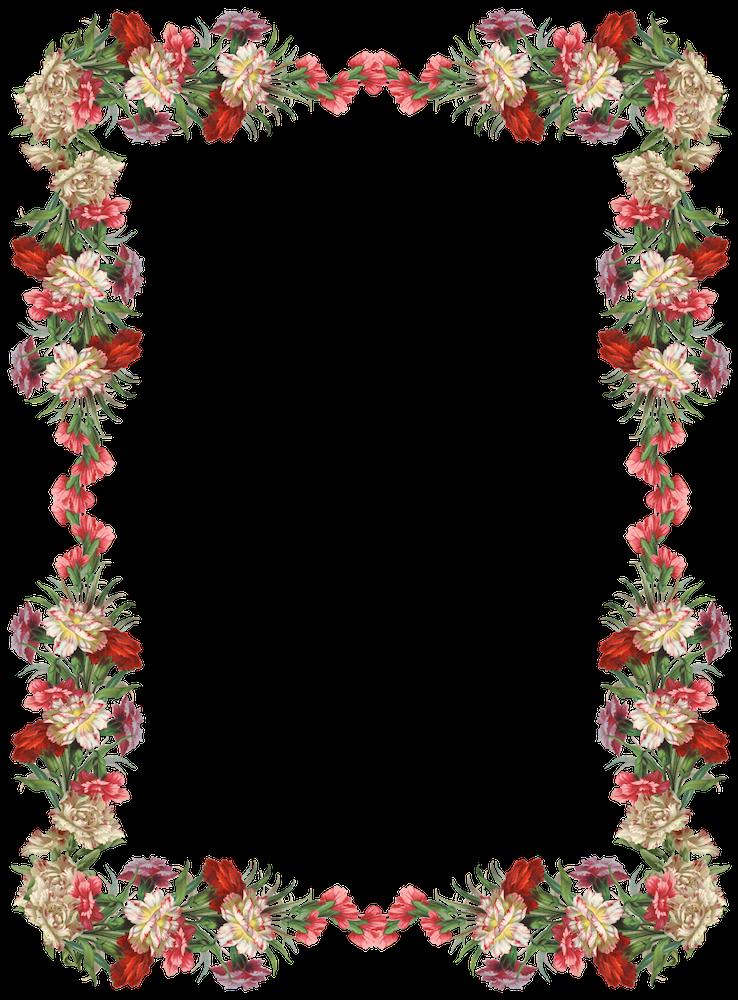 jpg black and white stock Free christmas clipart borders printable.  digital vintage flower