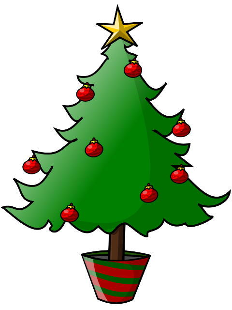 svg transparent stock Simple Christmas Tree Clipart