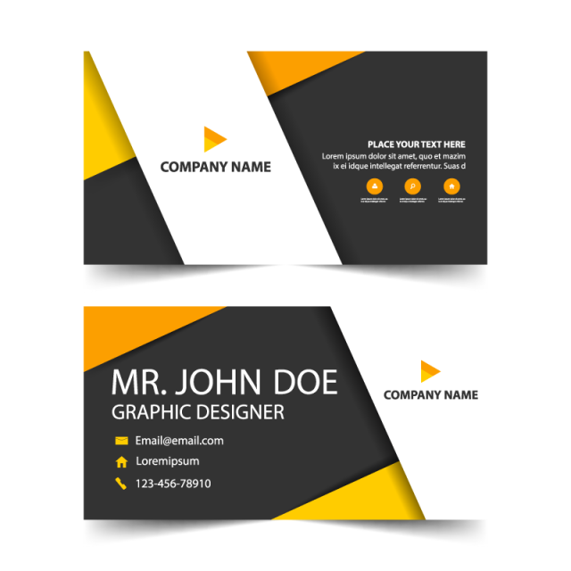 image freeuse Orange corporate business card header template Template for Free