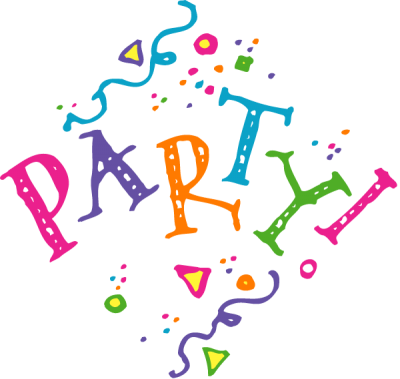 image royalty free library Celebration page clipartaz free. Office party clipart