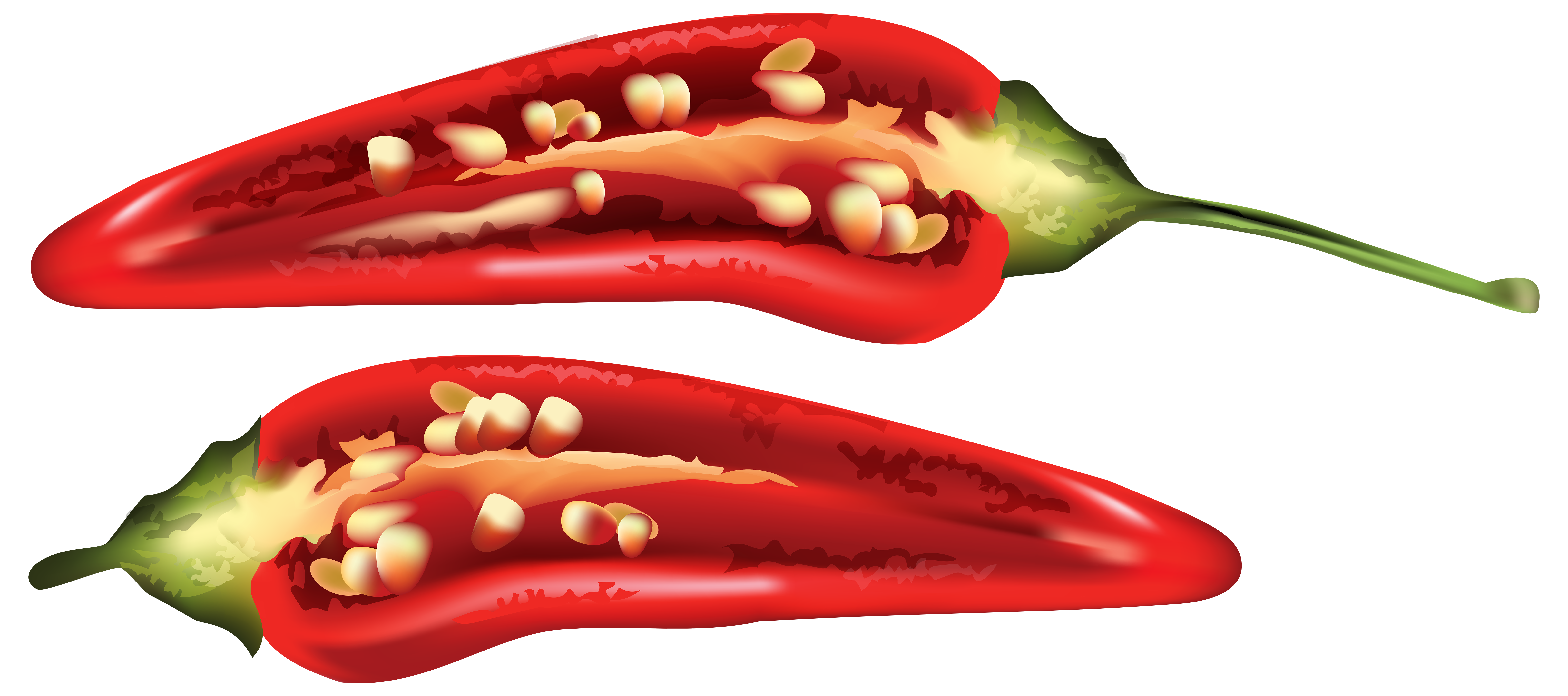 clipart royalty free Half Red Chili Pepper PNG Clip Art Image