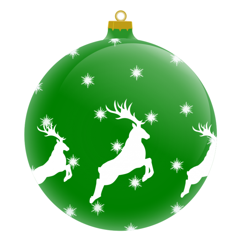 graphic black and white library Free Christmas Ornament Clipart at GetDrawings