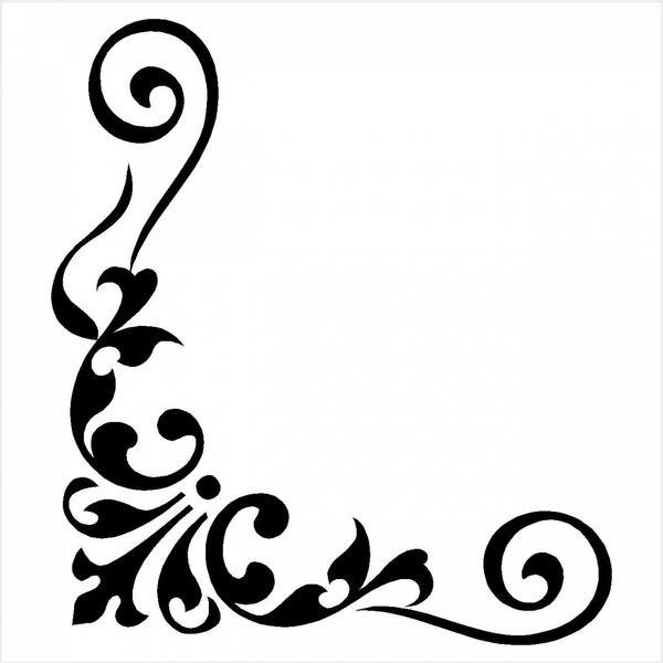 picture royalty free Free clipart corner borders. Formal cliparts download clip