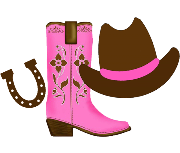 svg royalty free stock Cowboy boot hat clip. Country and western clipart