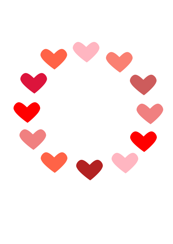image stock Heart free love and. Valentines border clipart