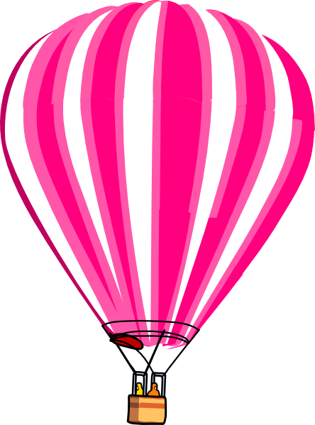 banner library download Hot Air Balloon Pink Clip Art at Clker