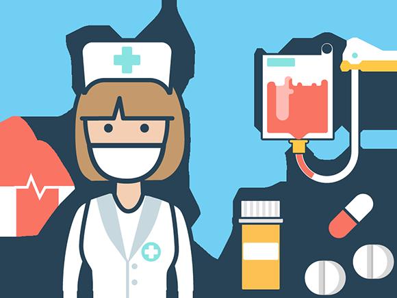 vector black and white download Nurse Case Management Clipart