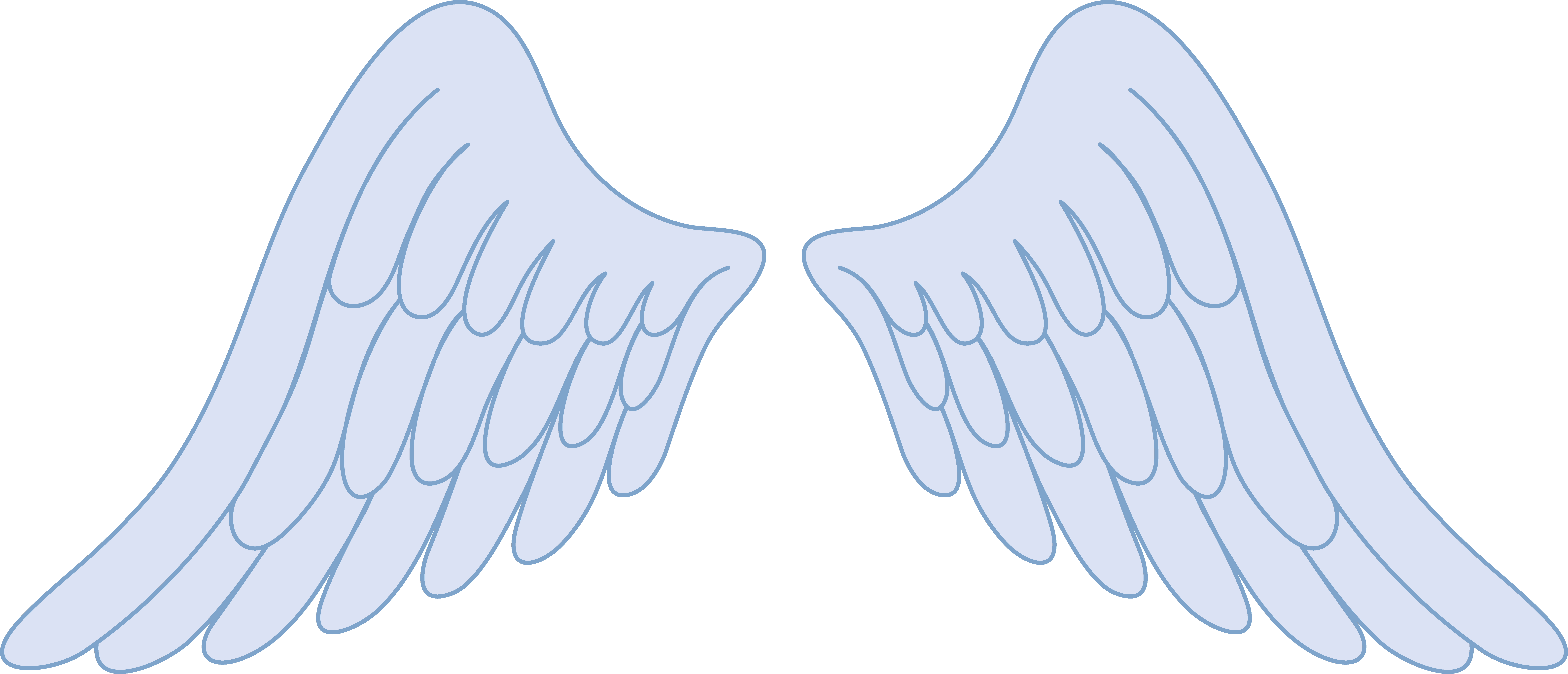 picture black and white stock Pastel Blue Angel Wings