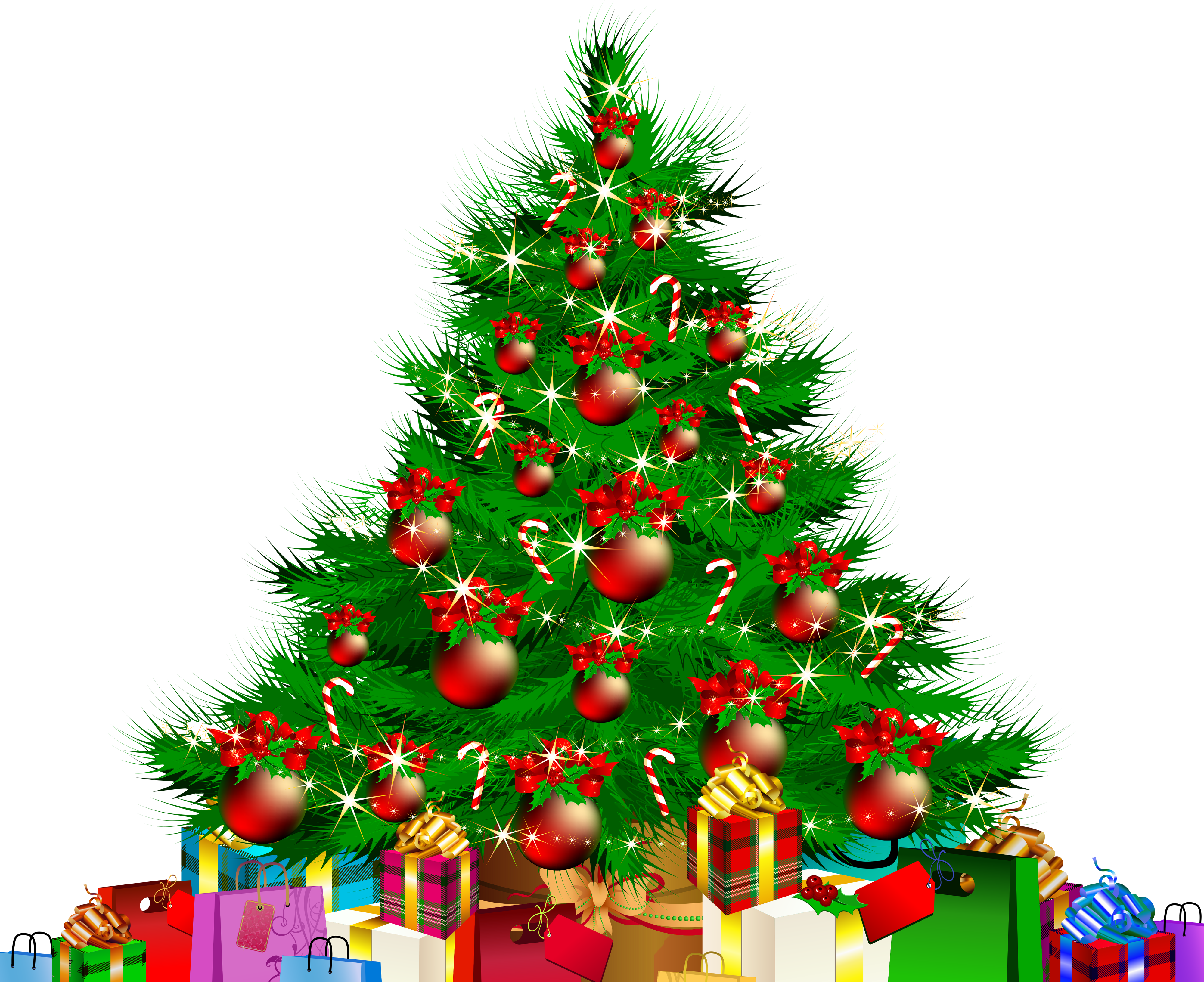 png library download Transparent Christmas Tree and Giftss PNG Clipart