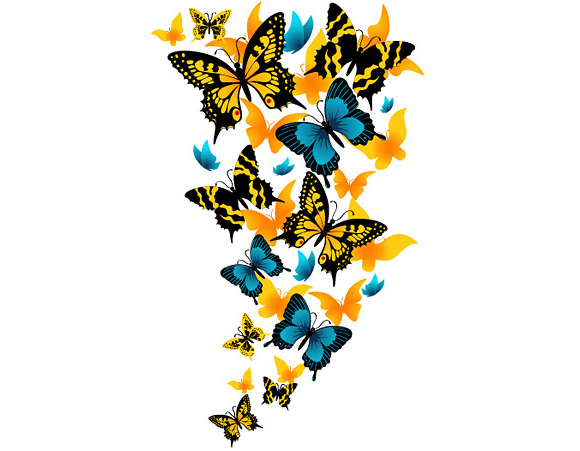 graphic royalty free Download clip art . Free clipart of flowers and butterflies.