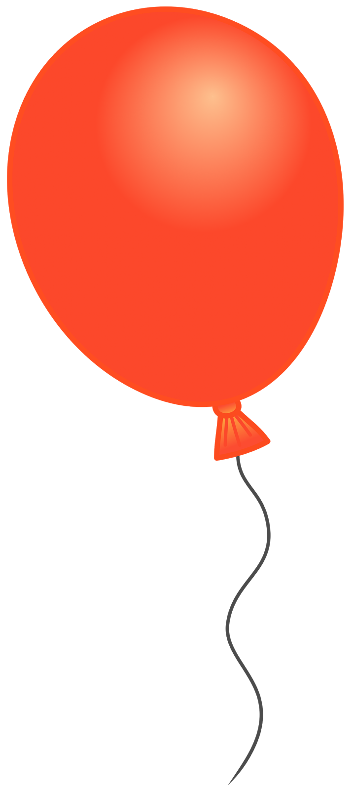 svg library Orange balloon cliparts download. Free clipart of happy birthday balloons