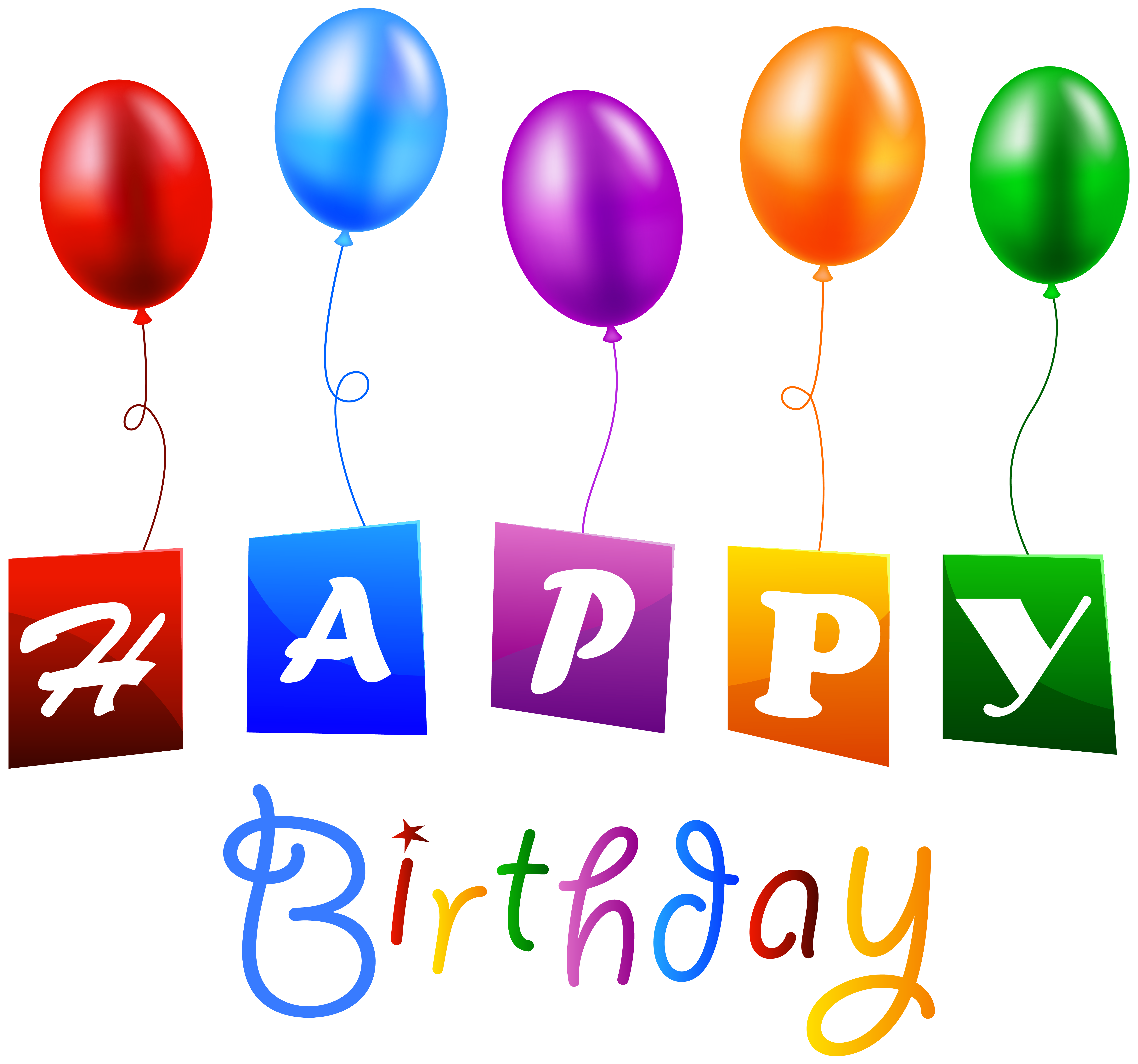 clipart library Balloon clip art with. Free clipart of happy birthday balloons