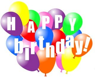 clip art download Images clipartandscrap . Free clipart of happy birthday balloons
