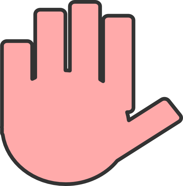 image black and white stock Free clipart of praying hands. Flat hand pink clip
