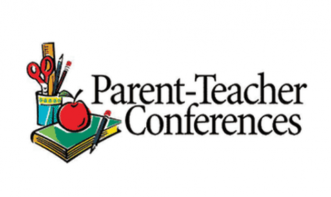 image black and white Parent conferences spring pendleton. 1:00 clipart teacher