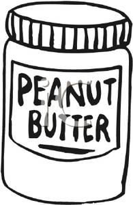 jpg free download Black and white jar. Free clipart peanut butter.
