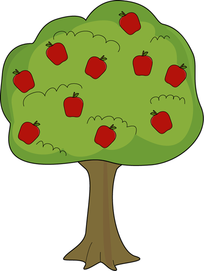 vector transparent Tree panda free images. Clipart of apples