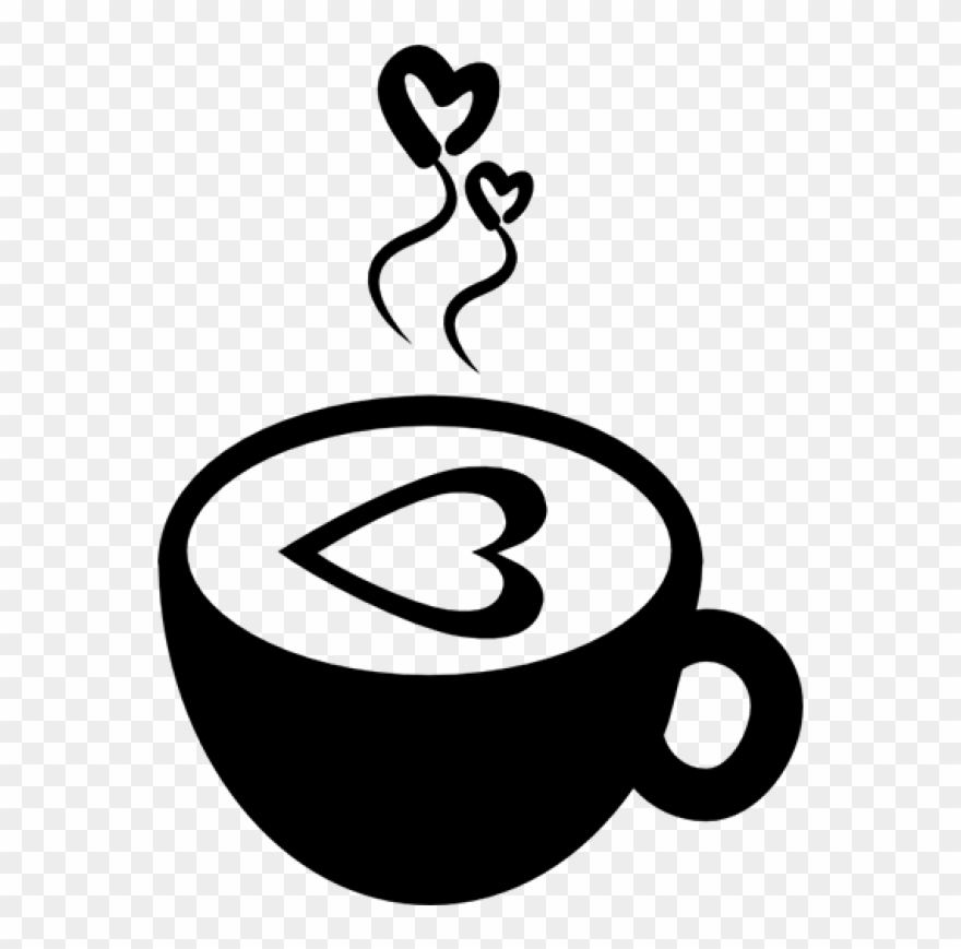 clip black and white library Hot with hearts comments. Free coffee cup clipart