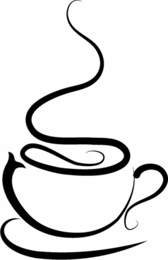 royalty free stock Free clip art cup. Vector coffee silhouette
