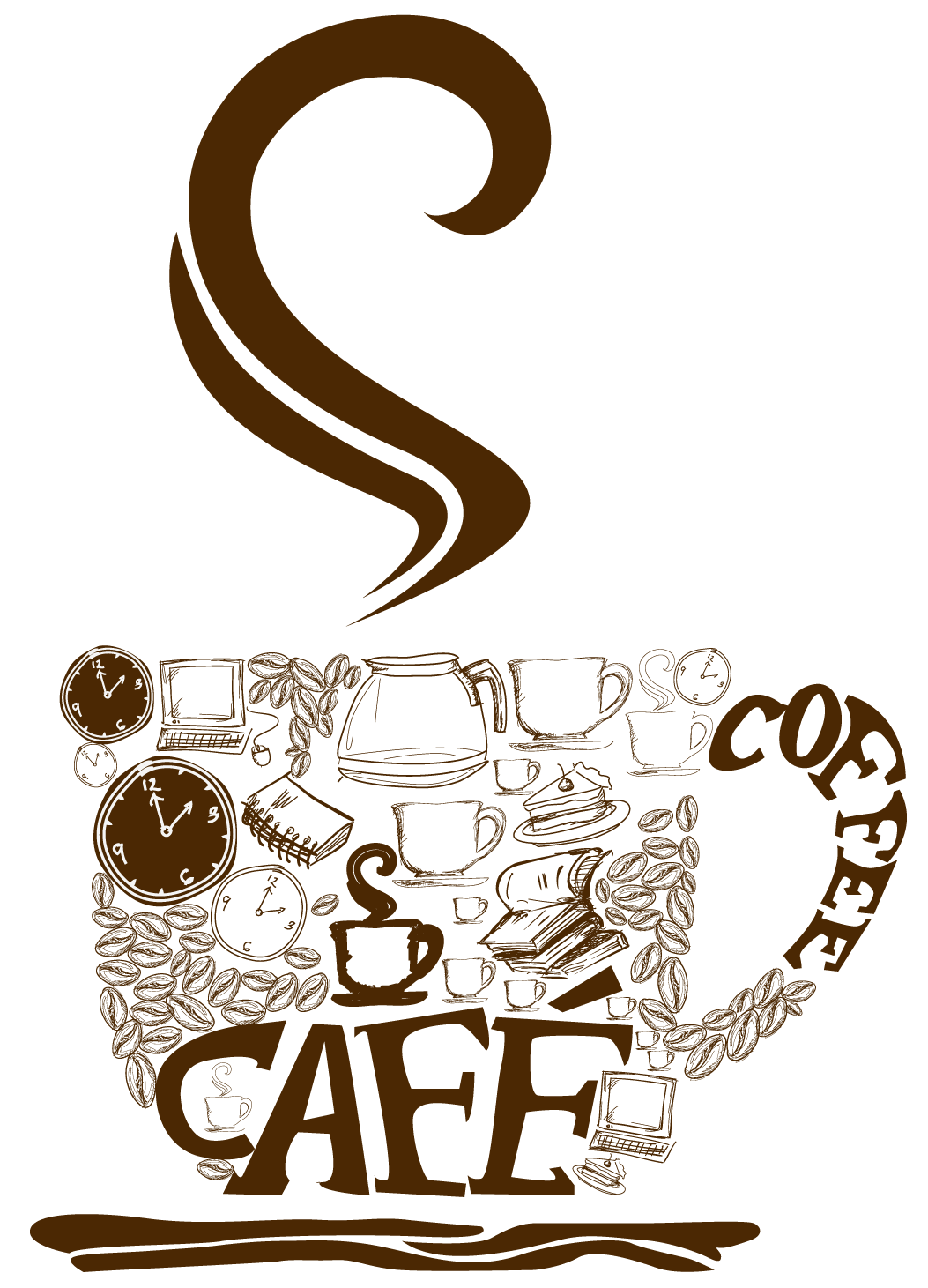 picture transparent stock Decorative cup png vector. Free coffee mug clipart