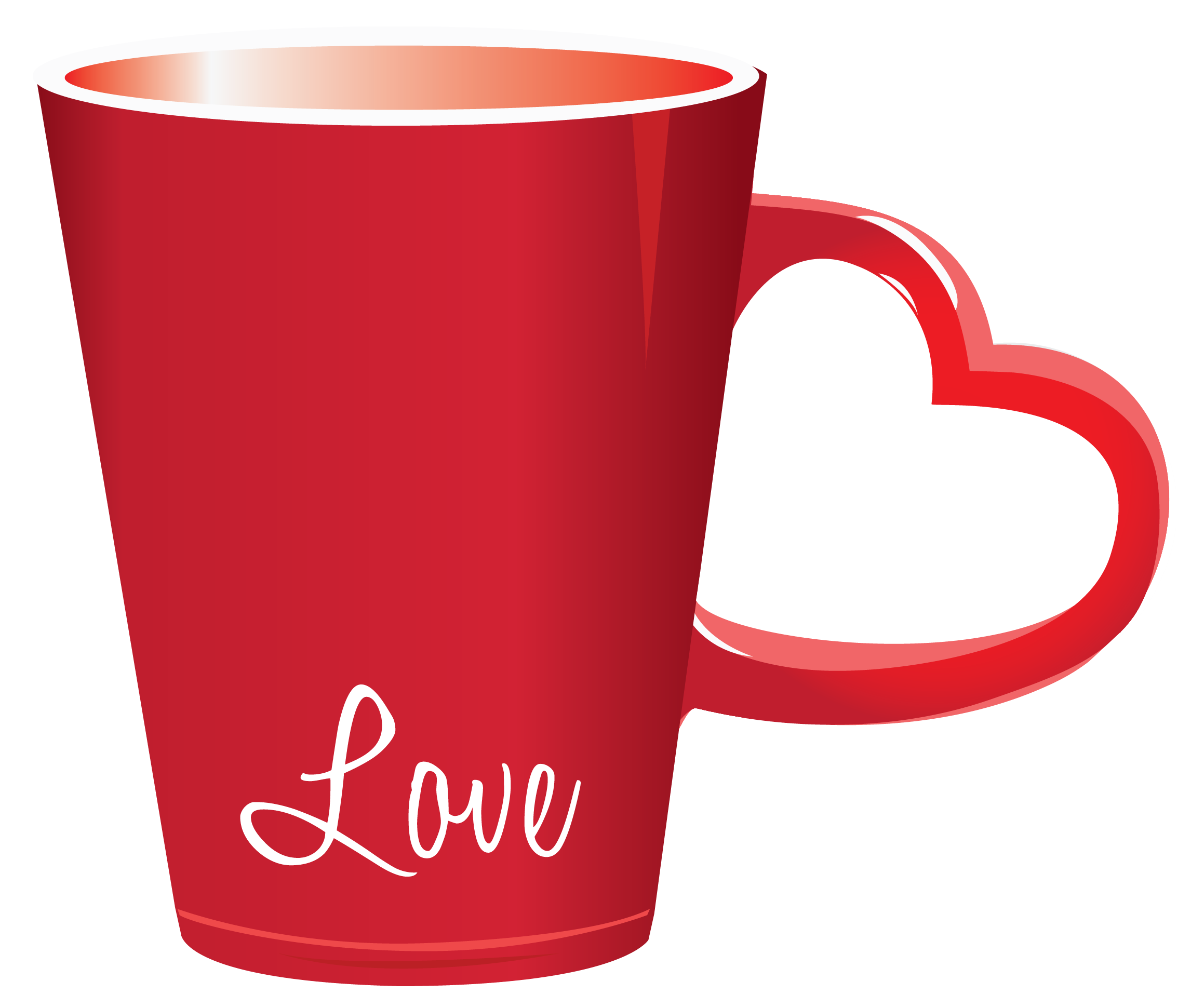 image free library Free coffee mug clipart. Red valentine love cup