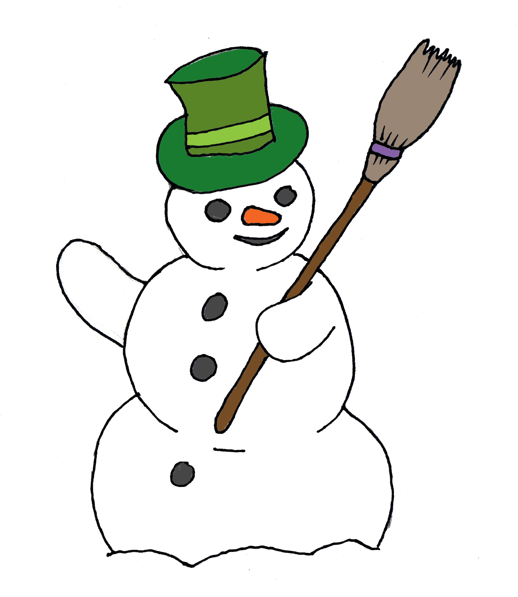 image free library Snowman clipart. Free public domain for.