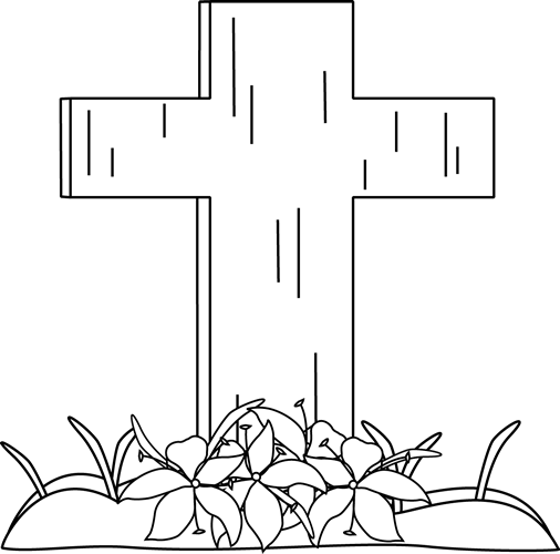 svg download Free cross clipart black and white. Wikiclipart easter