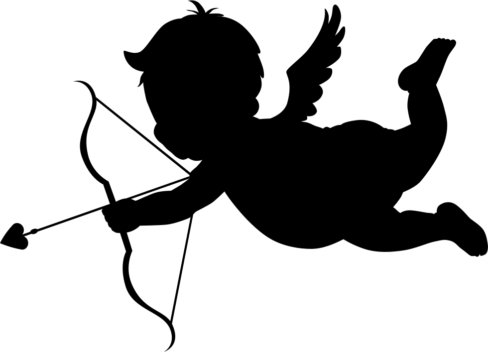 clipart black and white Cupid Silhouette at GetDrawings