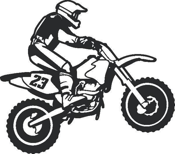 clip library Dirt bike wall decal. Dirtbike drawing